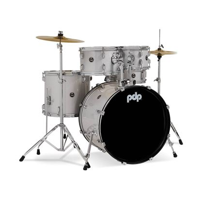 PDP Centerstage Series 5-Piece Drum Kit with 20in Bass Drum in Diamond White - Right