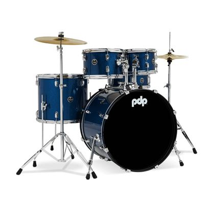 PDP Centerstage Series 5-Piece Drum Kit with 20in Bass Drum in Royal Blue - Right
