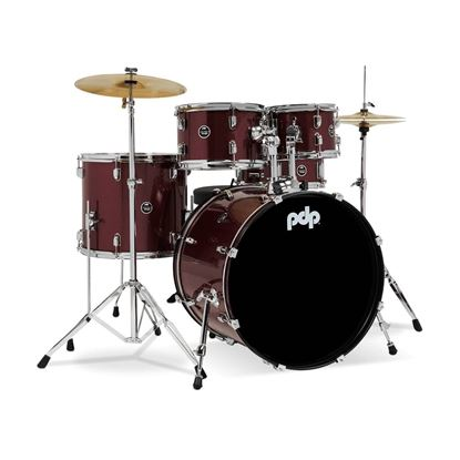 PDP Centerstage Series 5-Piece Drum Kit with 20in Bass Drum in Ruby Red
