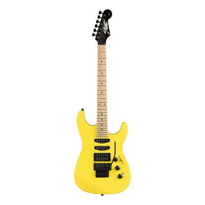Fender Limited Edition HM Strat Electric Guitar with Maple Fingerboard in Frozen Yellow - Front