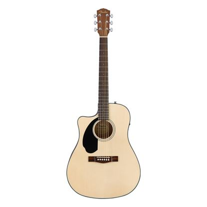 Fender CD-60SCE Left-Handed Acoustic Guitar with Walnut Fingerboard in Natural - Front