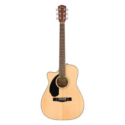 Fender CC-60SCE Left-Handed Concert Acoustic Guitar with Walnut Fingerboard in Natural