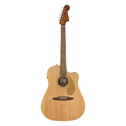 Fender Redondo Player Acoustic Guitar with Walnut Fingerboard in Natural - Front