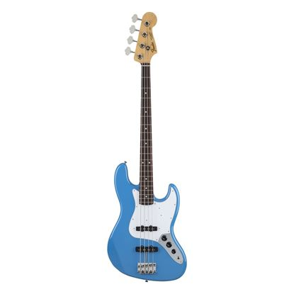 Fender MIJ Hybrid 60s Jazz Bass Guitar with Rosewood Fingerboard in California Blue