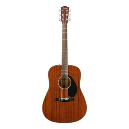 Fender CD-60S Dreadnought Acoustic Guitar with Walnut Fingerboard in All-Mahogany