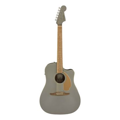 Fender Redondo Player Acoustic Guitar with Walnut Fingerboard in Slate Satin