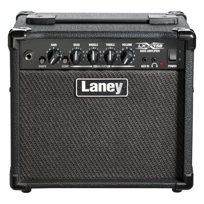 Laney LX15B Bass Combo Amplifier with 2x 5in Speaker in Black (15w) - Front