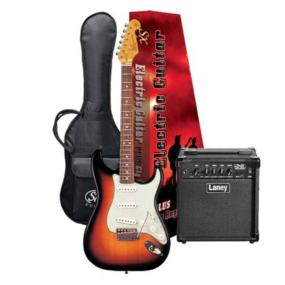 SX Essex & Laney Electric Guitar Pack in 2 Tone Sunburst (VES62TS Electric Guitar & Laney Amp)
