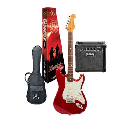 SX Essex & Laney Electric Guitar Pack in Candy Apple Red (VES62CAR Electric Guitar & Laney Amp)