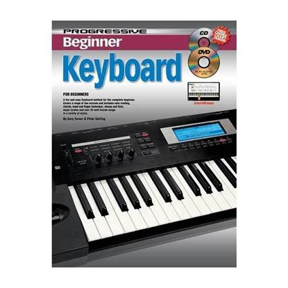 Progressive KPPBKCP Beginner Electronic Keyboard Book & CD/DVD - 69166