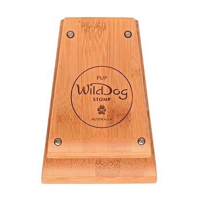 Wild Dog Pup Bamboo Stomp Box - Top