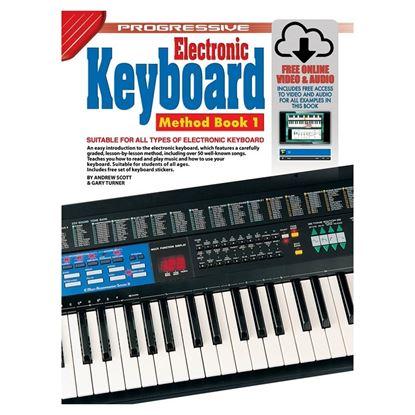 Progressive KPEK1X Electronic Keyboard Method Book 1 & Online Media - 18348