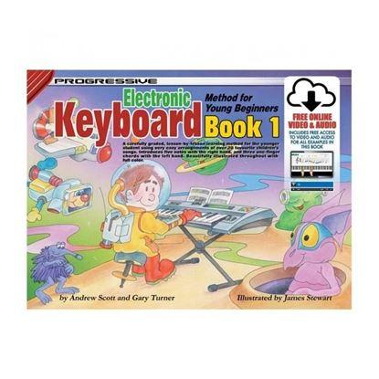Progressive KPYE1X Keyboard Method Book 1 for Young Beginners & Online Media - 18341