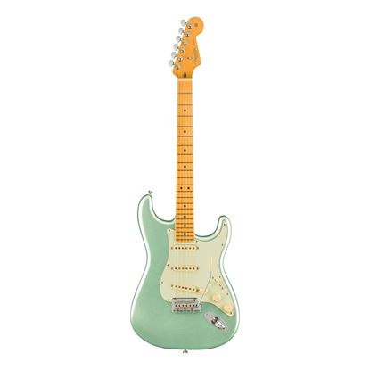 Fender American Professional II Stratocaster Electric Guitar with Maple Fingerboard in Mystic Surf Green - Front