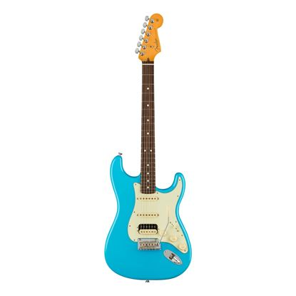Fender American Professional II Stratocaster HSS Electric Guitar with Rosewood Fingerboard in Miami Blue - Front
