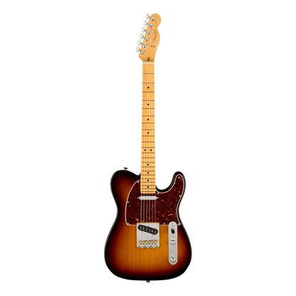 Fender American Professional II Telecaster Electric Guitar with Maple Fingerboard in 3-Color Sunburst - Front