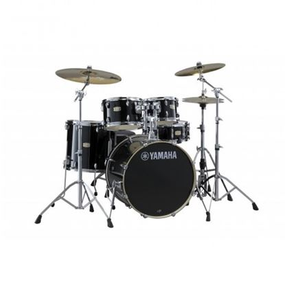 Yamaha SCB20 Stage Custom Fusion Birch Acoustic Drum Kit with 20in Bass Drum in Raven Black