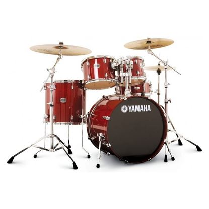 Yamaha SCB20 Stage Custom Fusion Birch 6-pc Acoustic Drum Kit with 20in Bass Drum in Cranberry Red