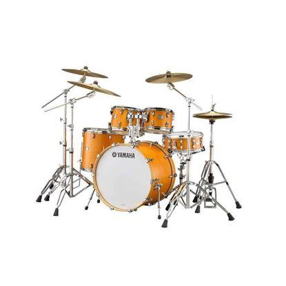 Yamaha TC22 Tour Custom Euro 5pc Drum Kit with 22in Bass Drum in Caramel Satin