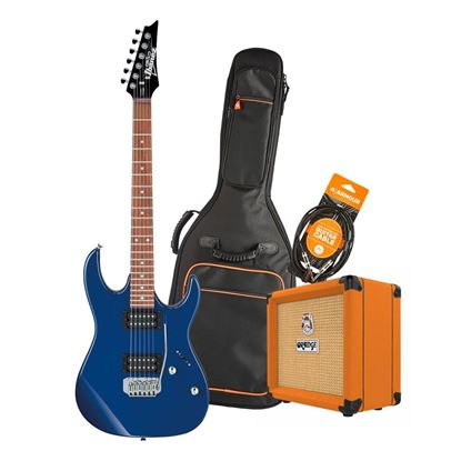 Ibanez RX22 Electric Guitar Starter Pack in Blue with Orange Crush 12 Amp, Armour Bag & GS10 Lead